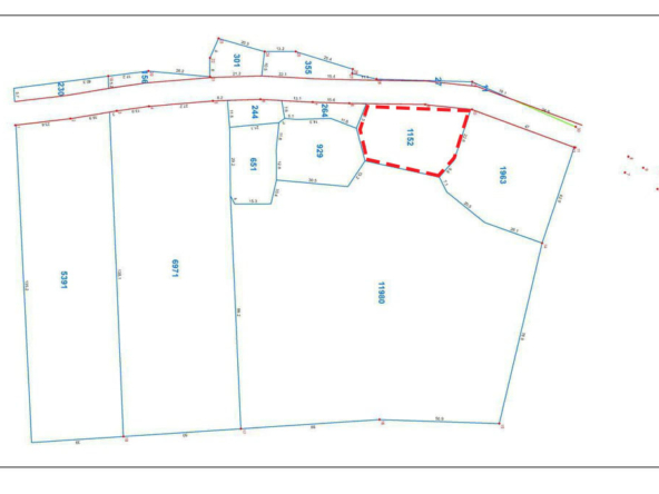 the layout of the land for sale in Kampot