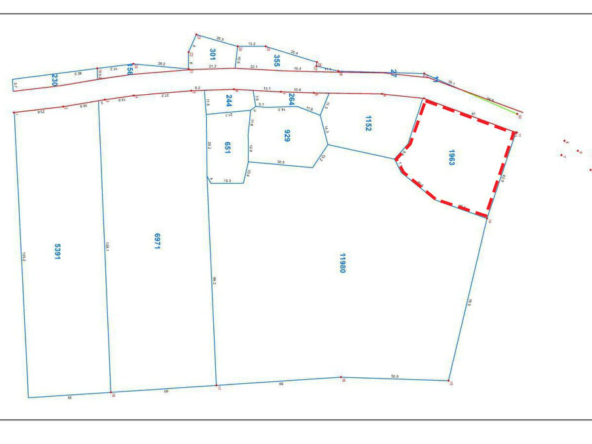 the layout of the land plots in the riverside land development project in Ta Doeb Andoung Khmer Kampot Cambodia