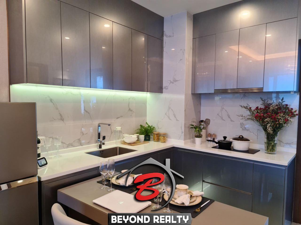 the living room of the 1 bedroom condo for sale at Prince Happiness Plaza