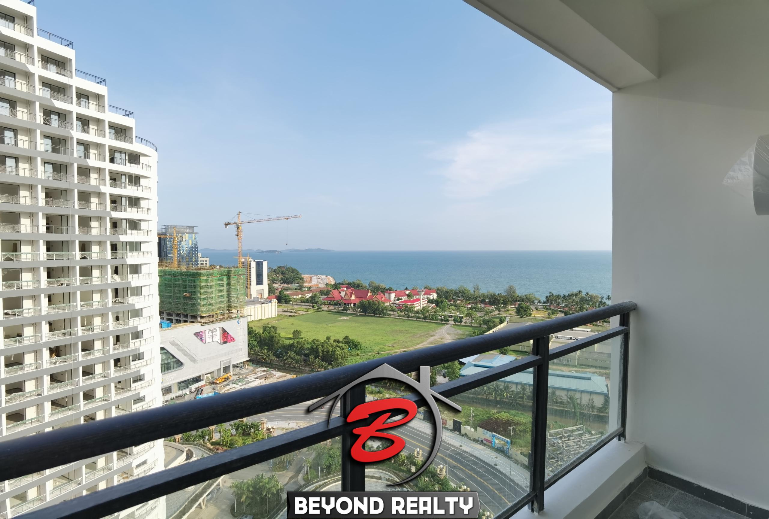 a view from the studio condo for sale at Star Bay in Sangkat 3 Sihanoukville