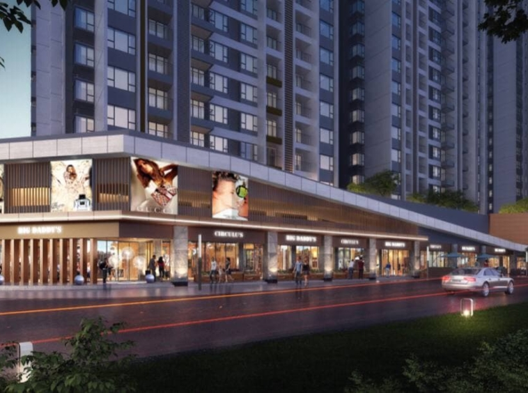 the render of exterior of the R&F City RF City condo for sale on Hun Sen Boulevard in Phnom Penh Cambodia