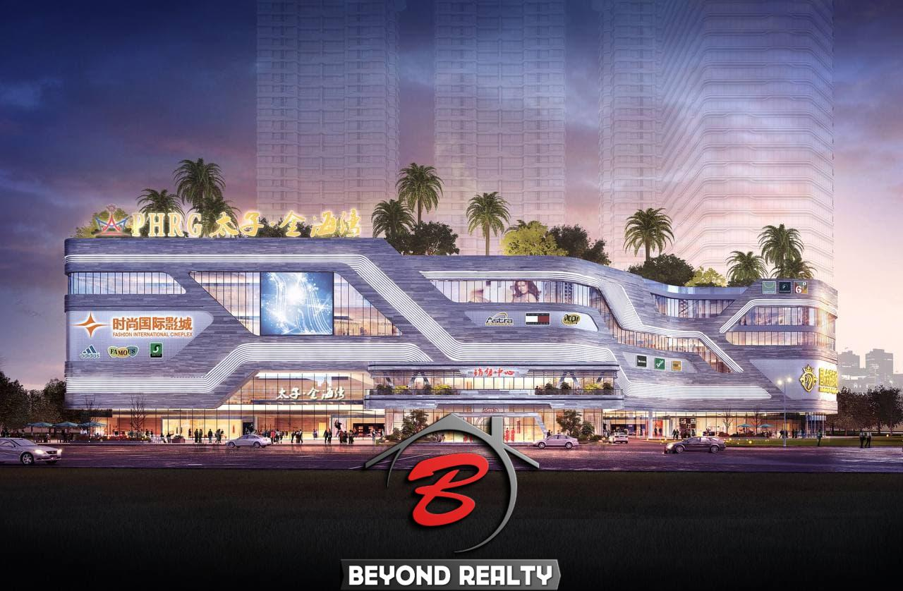 the shopping mall of Prince Golden Bay in Sihanoukville